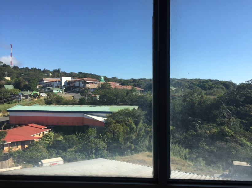 View from outside my hostel in Monteverde, Costa Rica